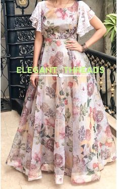 long frocks for kids . long frocks i Long Gown Dress, Lehnga Dress, Frock Dress, Organza Dress, Chiffon Maxi Dress, Saree Gown, Lehenga Designs, Kurta Designs, Blouse Designs
