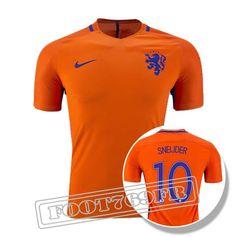 96db31ce4f2d5 Nouveau Maillot Sneijder 10 Pays Bas Homme Orange 2016 2017 Domicile  :Foot769Fr