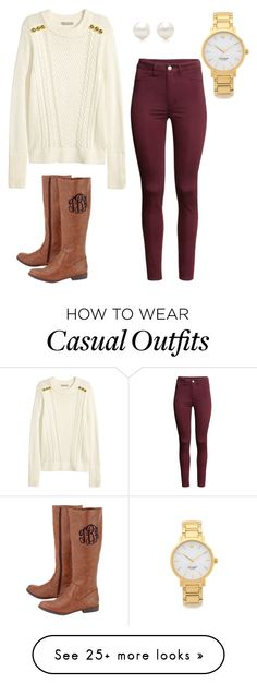 """""""Casual Fall Day"""" by northern-prepster on Polyvore featuring H&M, Tiffany & Co. and Kate Spade"""