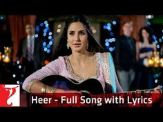 Heer - Song with Lyrics - Jab Tak Hai Jaan(+ 再生リスト)in japan toyko yokoham,a srk Hindi Music Song, Hindi Old Songs, Love Songs Playlist, Love Songs Lyrics, Song Quotes, Romantic Love Song, Beautiful Songs, Romantic Status, Best Video Song