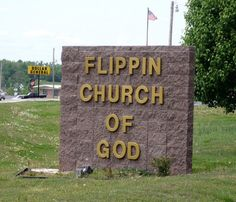 I guess they're not allowed to swear at this church. (find more funny church signs at http://www.funnysigns.net/category/church/