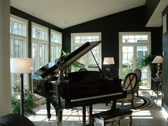 sunroom dining room ideas | Black painted rooms? - Home Decorating & Design Forum - GardenWeb