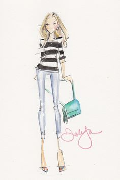 Fashion Illustrations by Dallas Shaw on Haute - A Toronto Fashion and Lifestyle Blog - hautecanada.com - 8