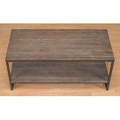 Elements Grey Coffee Table with Shelf $206.99
