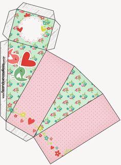 Pajaritos Enamorados: Cajas para Boda para Imprimir Gratis.