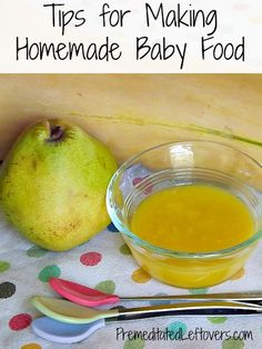 How to Get Started Making Homemade Baby Food - tips for when to introduce baby food, how to cook baby food, and how to freeze and store home...
