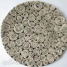 patera ceramiczna, talerz, ceramiczny, patera, ślimakowa, ceramiczna ceramika dom