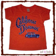 California Dreamin' Sol Baby Tee #californiadreamin #california #surf #cali #kids #tees