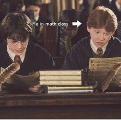 Basically we're all Ron. The worst part about math is the fact that half of the problems are just about five... um, numbers, I guess... long, and it takes at least a minute to tell up from down, then when you've done that you feel like an idiot because its just so simple