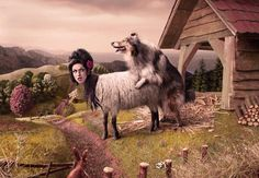 The Print Ad titled AMY WINEHOUSE was done by Mortierbrigade Brussels advertising agency for product: Tmf (brand: MTV Networks) in Belgium. Best Funny Pictures, Funny Images, Funny Pics, Funny Accidents, Funny Commercials, Fun Comics, Print Ads, Really Funny, Goats