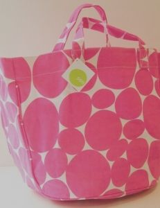 Large Soft Dot Pink Circle Tote Seaside Home Decor, Beach Cottage Decor, Nautical Home, Home Decor Shops, Coastal Decor, Tropical Decor, Beach Cottages, Pretty In Pink, Sewing Projects