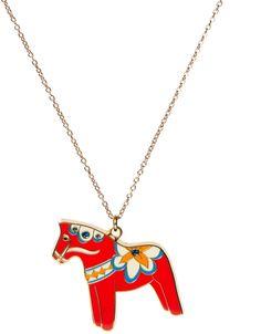 Rosie Wonders Dala Horse Necklace