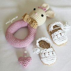 Espadrille crochet baby