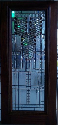 Stained Glass Door - looks like Frank Lloyd Wright design