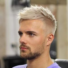 Men's cut that works with thinning hair? Ask your barber/stylist for more length and texture, short bangs over the forehead to conceal a receding hairline with tousled styling on top.