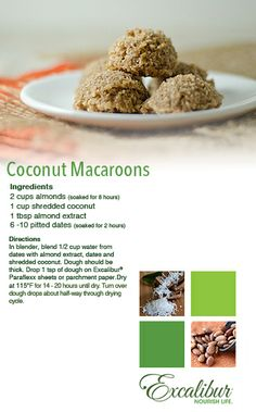 Day: Coconut Macaroons from Excalibur Food Dehydrators! Scrumptious ...
