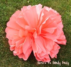 DIY large paper flowers- thinking of using these to decorate the back of chairs!
