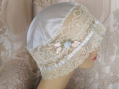 Vintage Boudoir Cap from the 1920's with by KISoriginals on Etsy, $45.00