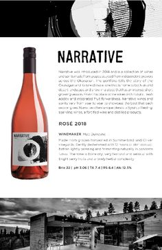 2014 Narrative Rosé | Rosé made from grapes harvested in Summerland and Oliver, BC Wines, Red Wine, Harvest, Alcoholic Drinks, Liquor Drinks, Alcoholic Beverages, Liquor