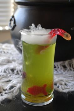 Swamp Juice. Awesome Halloween drink!