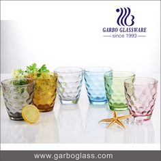 Spray color pressed machine made glass tumbler, with eco-friendly material and popular in south america.