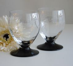 etched, flaired bowl crystal wine glass - Google Search