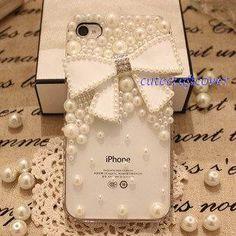 iPhone cute case pearl bridal iphone case cute by cutecraftcover, $16.99