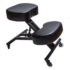 Sleekform Ergonomic Kneeling Chair M2 (Memory/Regular Foam), Adjustable Stool for Home, Office, and Meditation