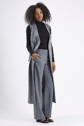 Premium Sleeveless Jacket and Wide Leg Trousers