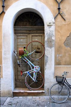 Bikes and doors: two things I love to photograph. Here is someone else's work in Senigallia, Marche, Italy