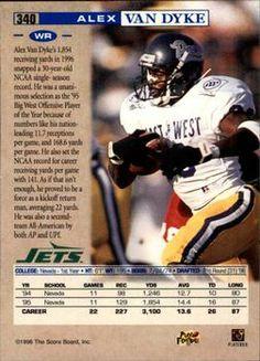 1996 Pro Line #340 Alex Van Dyke Back
