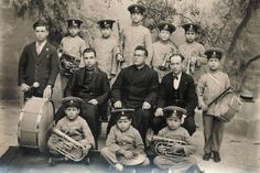 Fr. Luzar Buhagar, Fr. Karm Azzopardi and Mro. Mikiel Farruigia together with the first band of St. Joseph.....St. Joseph's Institute for orphans opened its doors in Ghajnsielem on the 21st May 1925. It was a red-letter day for the village because one of its major institutions saw its beginning then. Above all it was a notable date because about three years later, under the Institute's aegis saw the birth of the village's own musical society: the St. Joseph Band Club..