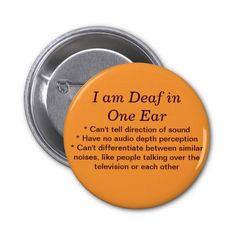 Deaf in One Ear Button Crib Sheet