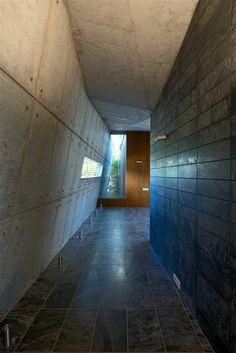 Modern Hallway With Simply Empty About the Popular Concrete Home Design Home design http://seekayem.com