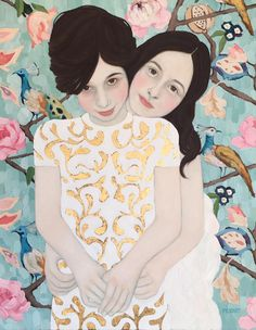 """Abigail and Kate"" 22 x 28"" Oil on canvas, Ryan Pickart"