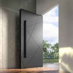 Modern Entrance Door, Main Entrance Door Design, Modern Exterior Doors, Entry Doors, The Doors, Front Entry, Pivot Doors, Metal Doors, Modern Front Door