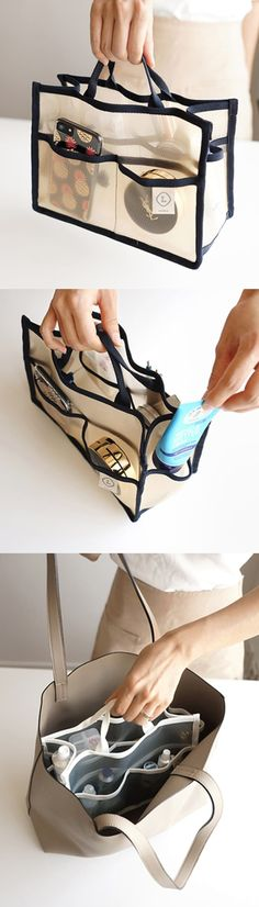 It helps your purse stay tidy and clean as you can organize your everyday items in the spacious compartment and many pockets! Also, it is made of mesh material, you can carry them when you go swimming, sauna or gym!