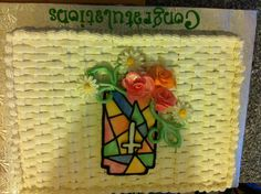 Congratulations cake for our Minister who was celebrating his 25th anniversary.