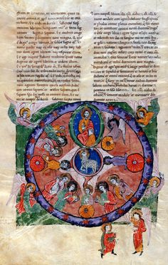 Vision of the Lamb and the Four Living Creatures | Beatus of Liébana | Las Huelgas Apocalypse | 1220 | The Morgan Library & Museum