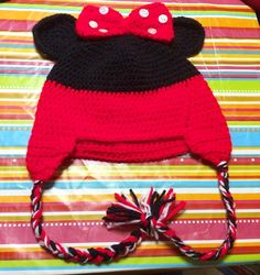 """""""Mi piace"""": 27, commenti: 1 - Patrizia Buono (@imago_be_creative) su Instagram: """"#wool #baby #newborn #minnie #mouse  #hat #crochet ... consegnato 😊❤ #handmade #clothes #hats…"""""""