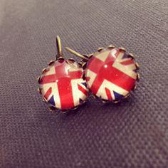 Bellbird Designs Union Flag earrings Union Flags, Stud Earrings, Christmas Ornaments, Holiday Decor, Handmade, Jewelry, Design, Art, Xmas Ornaments