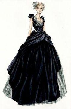 Anna Karenina costume sketches-myLusciousLife.com-Jaqueline Durran black ballgown.jpg