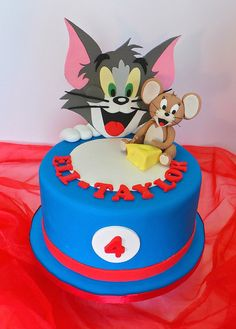 Tom Jerry Cake by The Sweet Boutique Sugarland TX Sparkles In