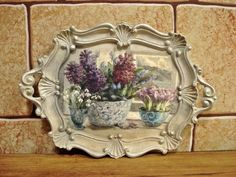 Hand made, wood painting Decoupage Art, Decoupage Vintage, Vintage Crafts, Hobbies And Crafts, Diy And Crafts, Home Crafts, Arts And Crafts, Painted Trays, Hand Painted