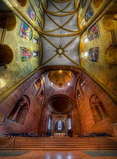 St. Martin's Cathedral in Mainz, Germany, 1000 years old and its interior is predominantly Romanesque by Klaus Hermann