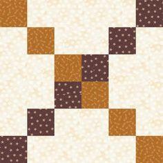 Six Grid Chain Quilt Block Pattern