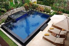 love the black frame if I can't have a natural pool - aren't I picky