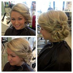 #updo #sidebun #prom #hair
