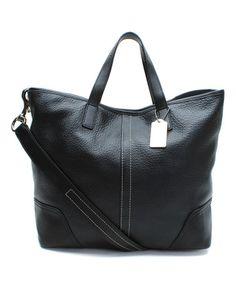 Look at this #zulilyfind! Black Hadley Leather Duffel by Coach #zulilyfinds