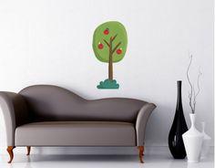 """Tiny City - Apple Tree Wall Decal 33"""" x 18"""""""
